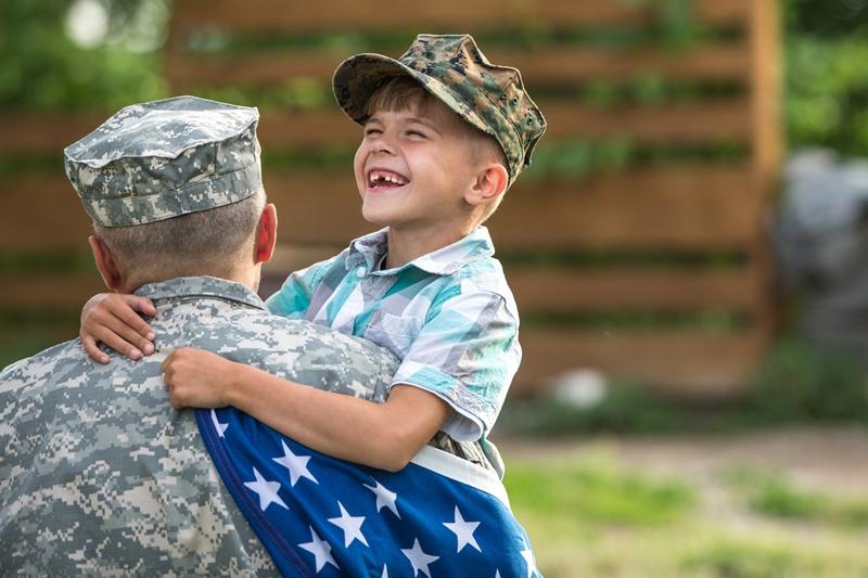 veteran dad and son