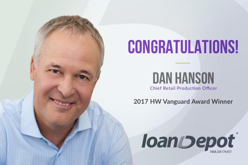 Dan Hanson loanDepot Housingwire Vanguard Award 2017