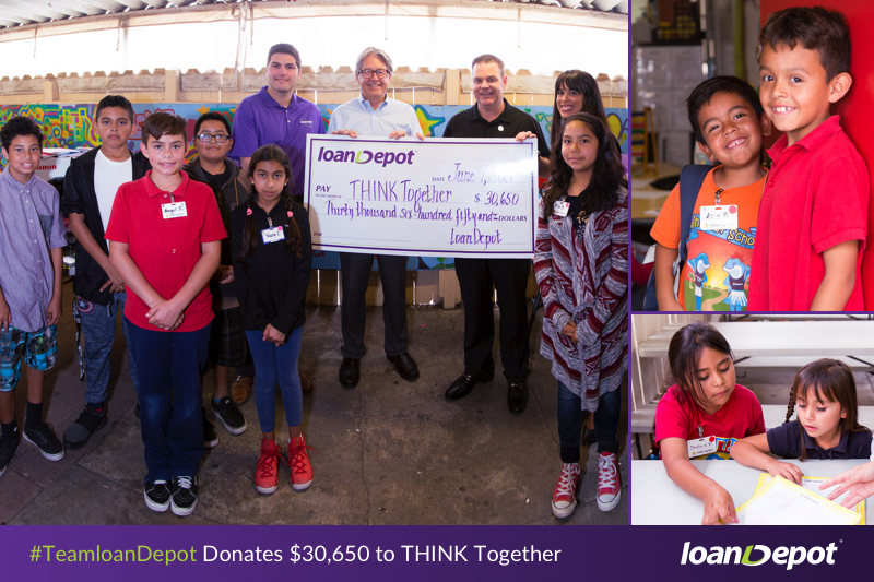 TeamloanDepot donates to THINK Together
