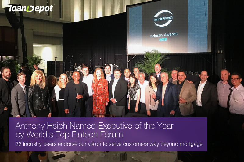 Anthony Hsieh Honored at LendIt 2018