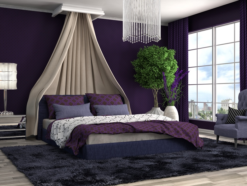 Ultra violet bedroom