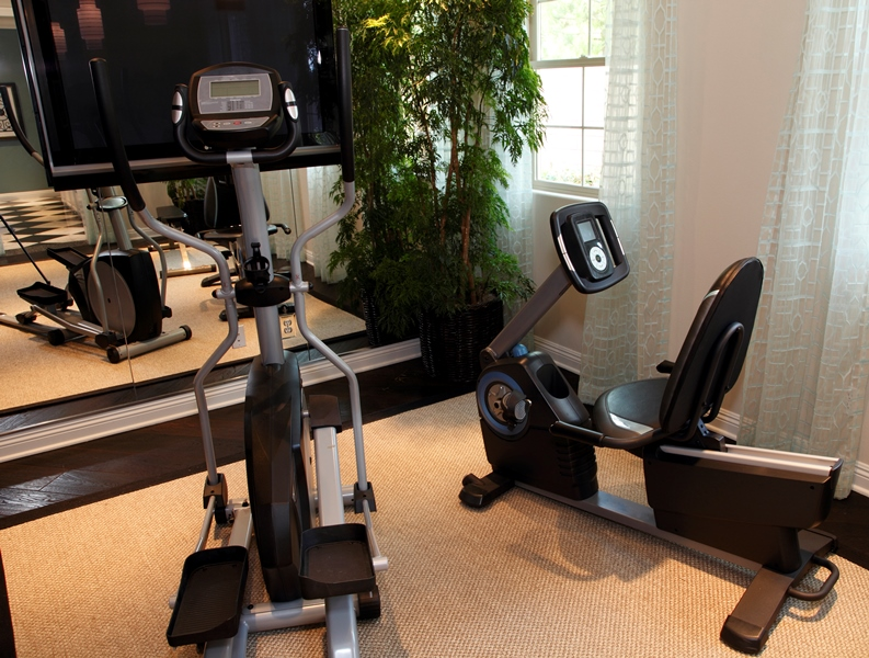 High-tech home gym