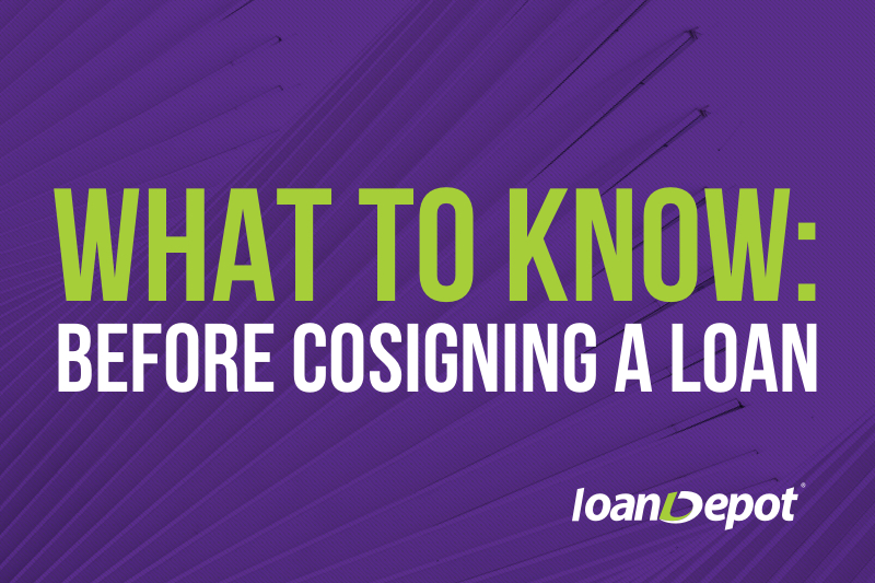 what to know before cosigning a loan