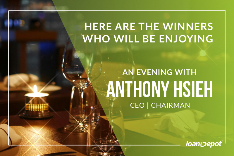 An Evening with Anthony Hsieh Winners Announcement
