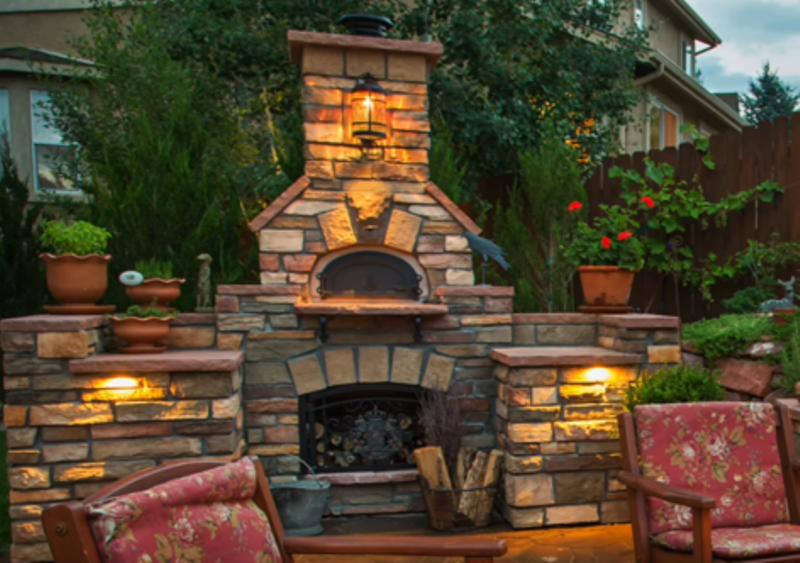 Outdoor fireplace featured